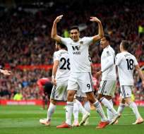 Wolverhampton celebra uno de sus goles.