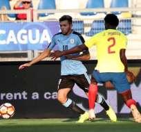Uruguay se llevó los puntos ante Ecuador. Foto: Twitter FEF