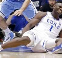 Zion Williamson se lesionó en el partido ante North Carolina