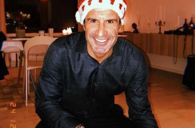 El exjugador Luis Figo deseó una feliz navidad a todos sus seguidores de instagram.