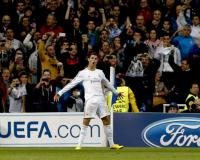 Cristiano Ronaldo celebra uno de sus goles. Foto: EFE