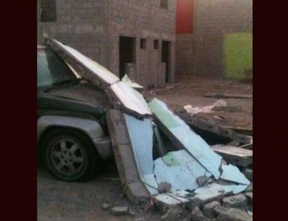 CHILE. Daños estructurales e inundaciones por el terremoto de 8.2 Richter de ayer. Foto: Twitter