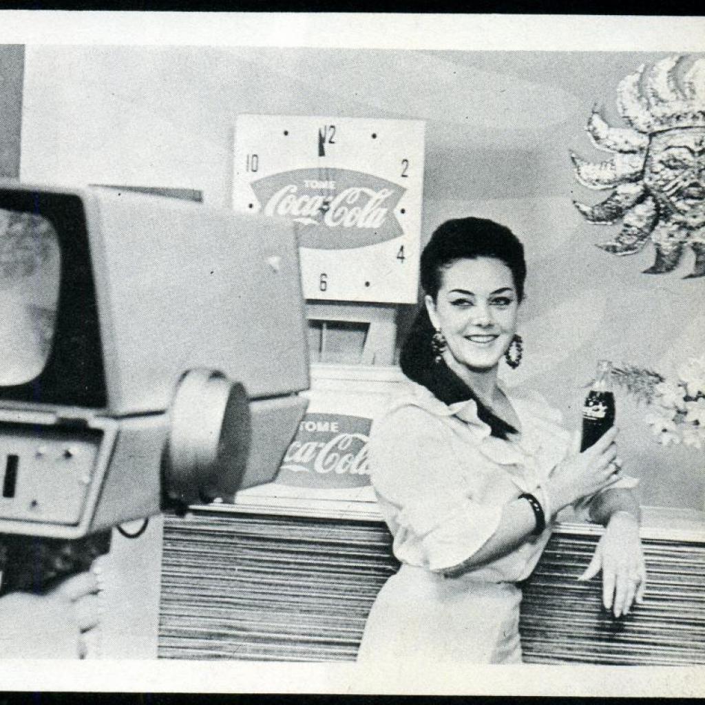 """Mercedes Lozano """"La chica Coca Cola""""."""
