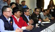 QUITO, Ecuador.- La Ceosl, que organiza la marcha, demanda soluciones en materia de justicia y desempleo. Foto: API