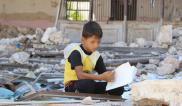 14 menores resultaron heridos por el impacto de los proyectiles en el área de la escuela.Foto: UNICEF