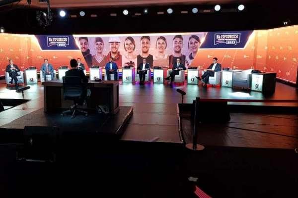 Siete candidatos participaron en primera jornada del debate presidencial
