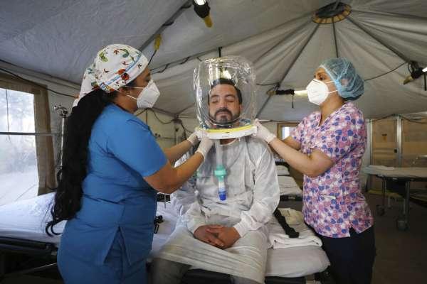 Hospital en Bogotá usa cascos