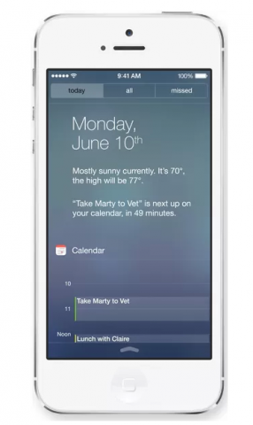 iOS 7 - Centro de Notificaciones
