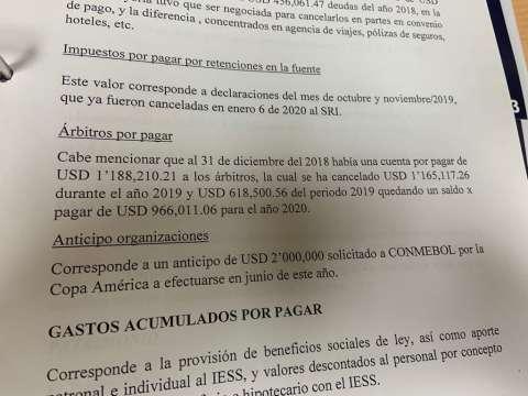 La Federación Ecuatoriana de Fútbol dio a conocer en el Congreso Ordinario 2020