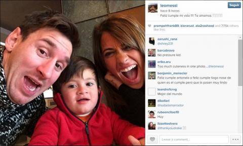 "Messi... ""Feliz cumpleaños Antonella"""