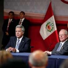 Canciller Espinosa dijo que se va a avanzar y concluir el Parque Lineal en la frontera. Foto: Twitter Presidencia
