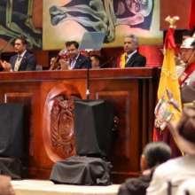 QUITO, Ecuador.- El Gobierno derogará el acuerdo de copago para beneficiarios de casas del terremoto. Foto: Twitter