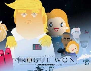 Un diseñador gráfico ruso parodió en un tráiler animado los recientes comicios en EEUU. Foto: Captura