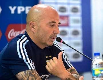 Jorge Sampaoli atendió a la prensa luego de la práctica de Argentina en el Capwell.