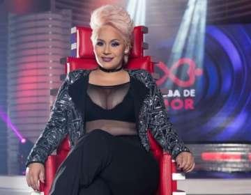 """Mayensi forma parte del jurado de """"Prueba de amor"""". Foto: Ecuavisa"""