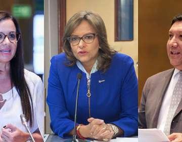 ECUADOR.- Marcela Aguiñaga sería propuesta por los correístas. Fausto Terán irá por el oficialismo. Collage: Ecuavisa