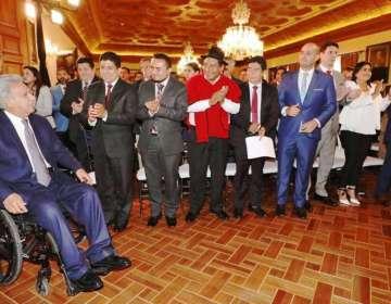 El encuentro se desarrolló en el Salón Amarillo del Palacio de Carondelet. Foto: Comunicación