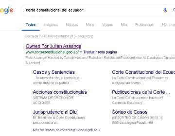 ECUADOR.- Según el organismo, las amenazas provienen de una IP cuyo origen es Turquía. Foto: Captura