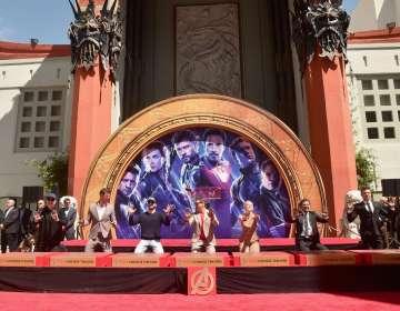 HOLLYWOOD, EEUU.- La ceremonia se realizó pocas horas después de la premiere en Los Ángeles. AFP