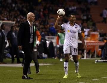 El entrenador de Liga de Quito valoró el triunfo conseguido ante Flamengo. Foto: API