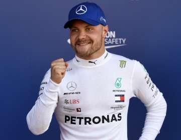 El piloto finlandés superó a su compañero Lewis Hamilton y a Sebastian Vettel. Foto: PIERRE-PHILIPPE MARCOU / AFP