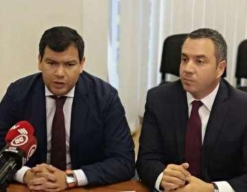 """QUITO, Ecuador.- César Litardo (i) hizo un llamado a una gran """"Coalición Nacional por la Gobernabilidad"""". Foto: Ecuavisa"""