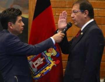 Santiago Guarderas, del Movimiento Unión Ecuatoriana, fue designado como primer vicealcalde de Quito.Foto: Twitter