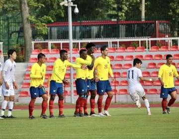 Ecuador en su último amistoso ante Corea del Sur. Foto: Twitter FEF.