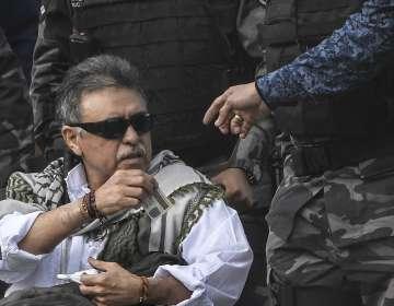 COLOMBIA.- La diligencia había sido postergada por los problemas de salud de Jesús Santrich. Foto: AFP