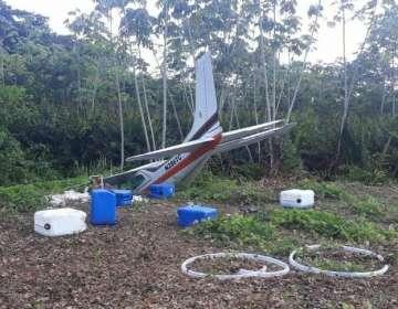 Avioneta se estrella en San Lorenzo, Esmeraldas. Foto: cortesía