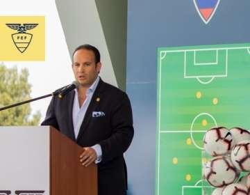El presidente de la FEF ya está en Polonia con la selección ecuatoriana sub-20. Foto: Tomada de @FEFecuador