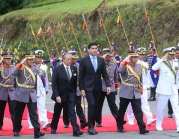 El evento inició con el ingreso del Pabellón Nacional y un desfile. Foto: Comunicación Ec