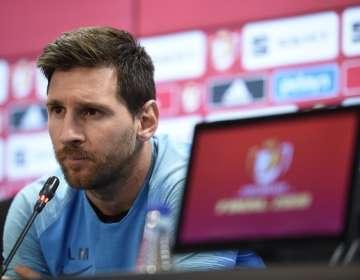 El jugador argentino pidió que el entrenador Ernesto Valverde siga en el cargo. Foto: JOSEP LAGO / AFP