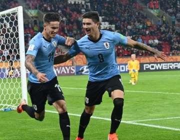 La 'celestita' superó 3-1 a los 'nórdicos' en el inicio del grupo C. Foto: Tomada de Twitter @Uruguay