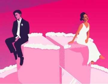 La tendencia al aumento de divorcios en todo el mundo se observa desde hace décadas. BBC THREE