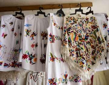 Piezas de la artesana mexicana, Glafira Candelaria José, de la etnia otomí. Foto: AFP