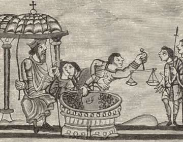 El pago de impuestos, como ilustra este antiguo dibujo británico, se remonta 5.000 años atrás.
