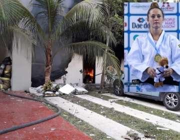 La casa de la judoca, luego de la explosión sufrida, que terminó con la muerte de ella.