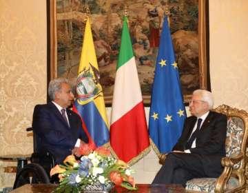 El primer mandatario cerró su visita oficial en Italia. Foto: Presidencia