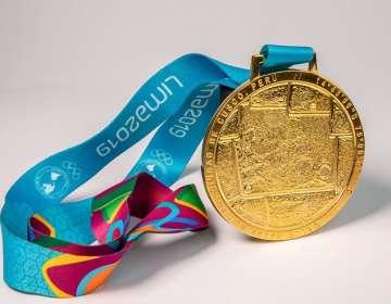 Una de las medallas que se darán en los juegos. Foto: Twitter Panamericanos.