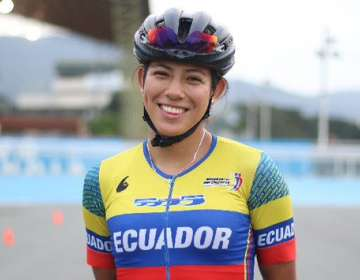 María Loreto Arias, patinadora ecuatoriana. Foto: Twitter Comité Olímpico Ecuatoriano.