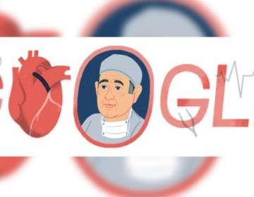 El doodle de Google que homenajea a René Favaloro en el 96° aniversario de su nacimiento.