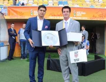 Jaime Estrada afirmó que la Copa América será el único tema del día en el directorio. Foto: Tomada de @FEFecuador