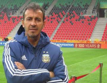 Bautista, entrenador de la Sub-23 de Argentina.