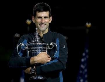 Novak Djokovic con el trofeo del US Open 2019. Foto US Open.