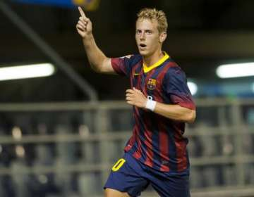 Nieto jugó en el Barcelona B.