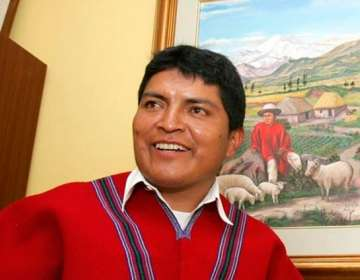 Luis Alfonso Chango, directivo de Mushuc Runa.