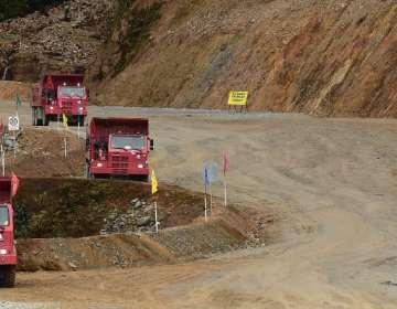 Ecuador inicia minería industrial a cielo abierto en Zamora Chinchipe. Foto: AFP