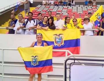La ecuatoriana compitió en los 10.000 metros marcha en San José, Costa Rica. Foto: Tomada de @DeporteEc