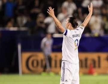 Zlatan en un partido con LA Galaxy. Foto Twitter Zlatan.